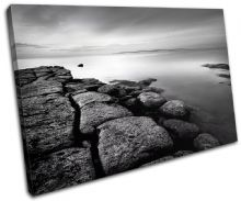 Rocks BLACK WHITE Sunset Seascape - 13-0123(00B)-SG32-LO